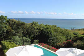Southerly ocean view from villa