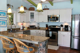 Fully featured gourmet kitchen