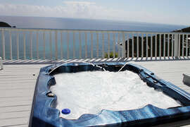 Hot Tub on deck outside Master Bedroom