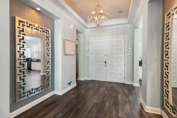 Elegant entrance of your new home away from home