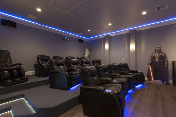 Luxury Theater Seating for 13 persons - Ground shaking Surround sound theater experience