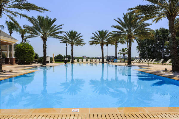 Seven Eagles Pool Complex - heated infinity pool, cabana bar, fitness center, and arcade