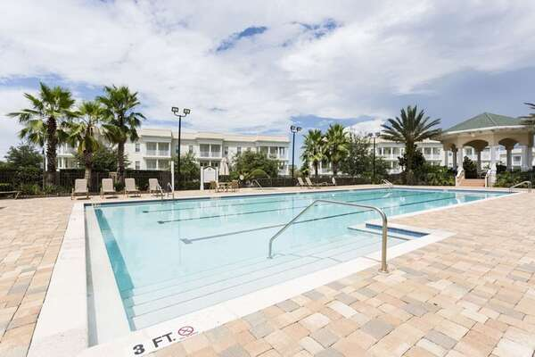 The Terraces pool located just yards away from unit