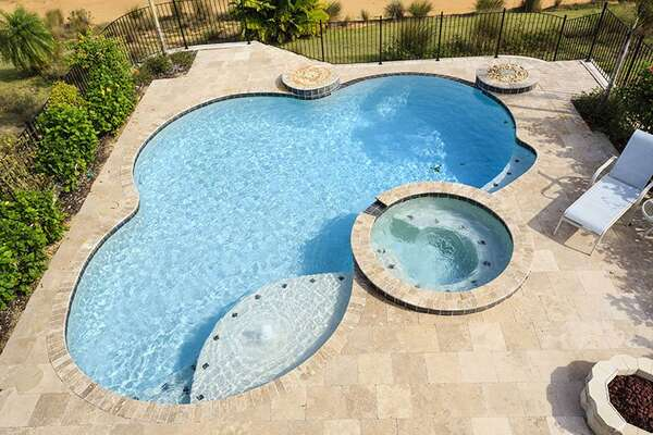 View of your private pool from your upstairs balcony