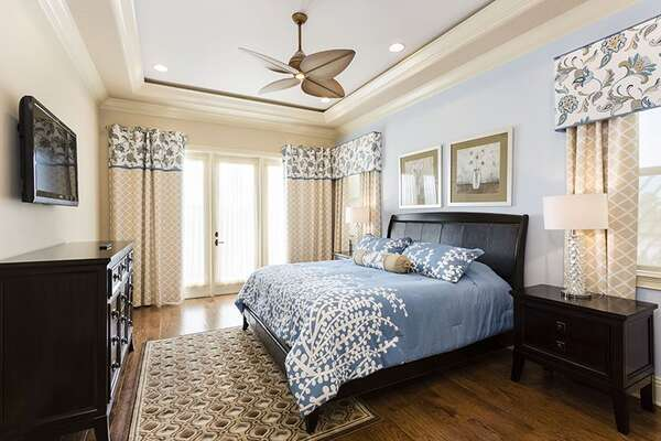 Rest your head in this gorgeous master bedroom with a king size bed