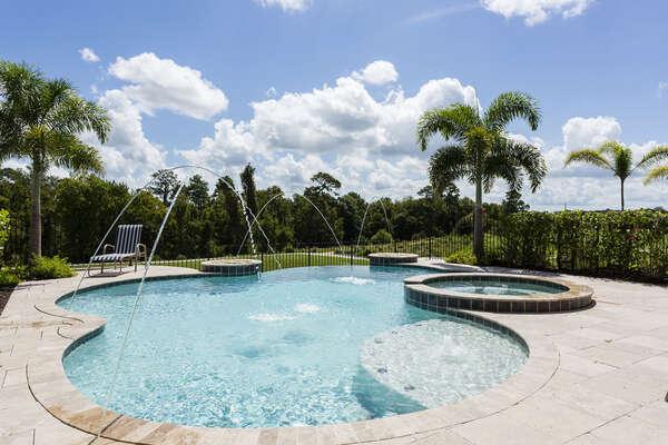 Splash around in this gorgeous infinity pool
