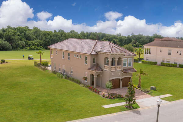 Aerial view of this luxury home