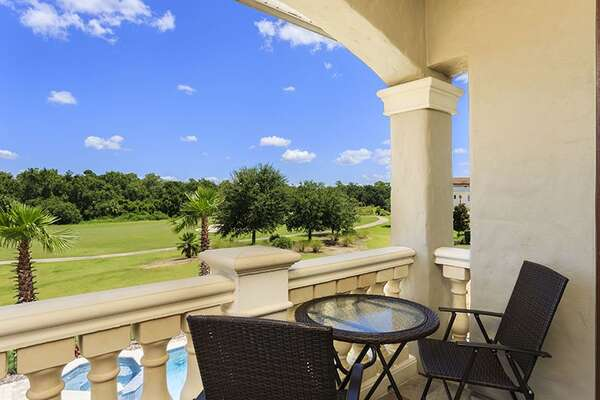 Step out to your private balcony and take in the golf views