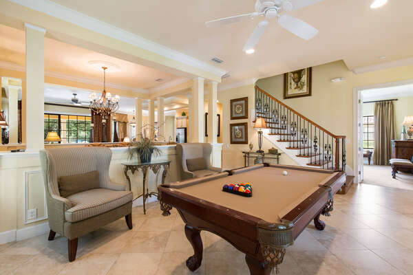 The home offers a open floor plan throughout