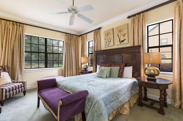 Luxury downstairs master king bedroom suite 1