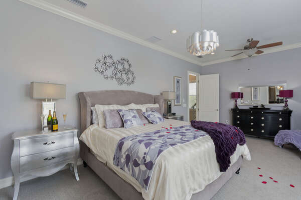 Stunning contemporary upstairs Master with direct access to balcony