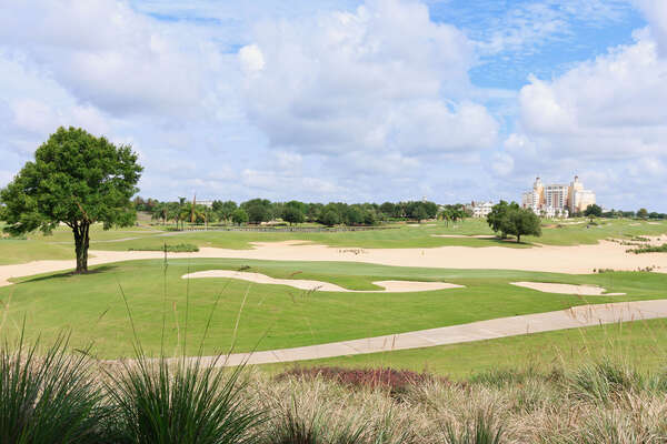Some of the expansive views of the golf course directly behind the home