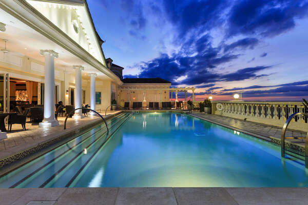 The rooftop pool at the Grande