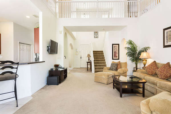 Ample living room area