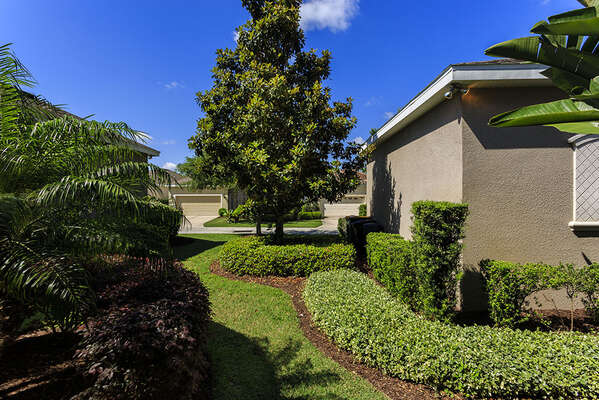 Backyard, The rear of this home also offers a drive way for parking of two vehicles