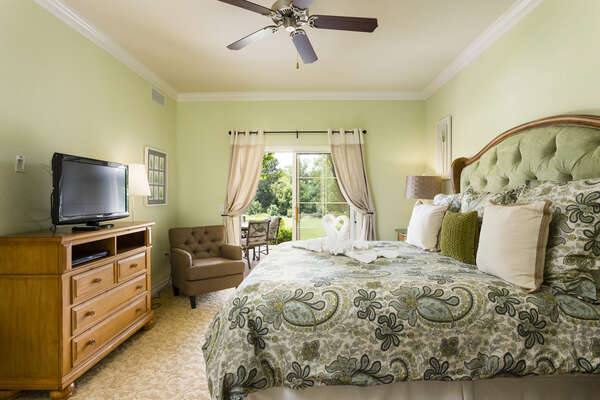 With ensuite and private balcony access