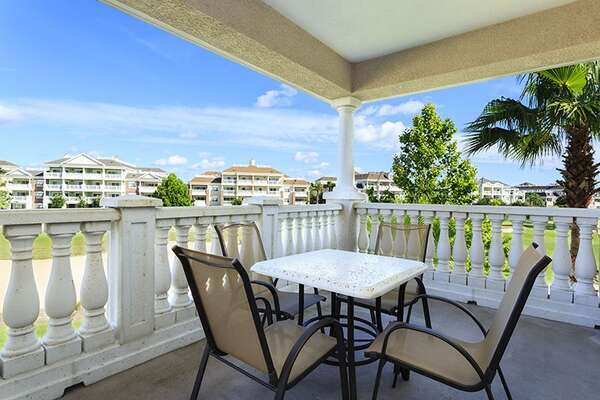 Relax or dine on your private balcony