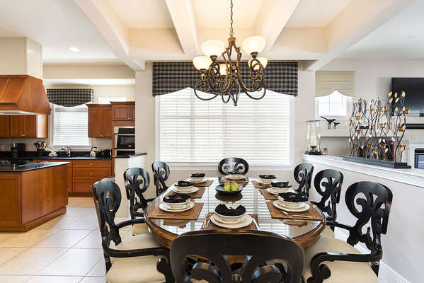 Formal dining area seating for 8