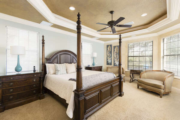 Stately downstairs main king master suite