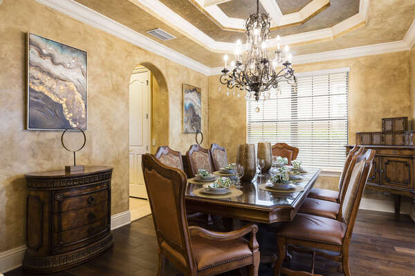 Celebrate special occasions in the elegant formal dining room