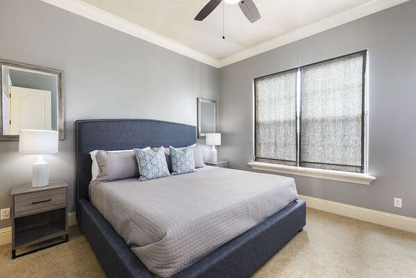 Third master suite King bed