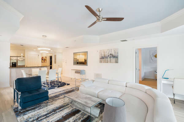 This gorgeous ground floor condo has an open living space