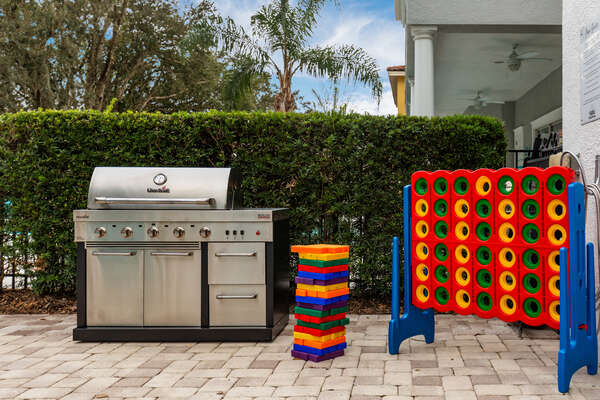 Enjoy al fresco meals from the barbecue