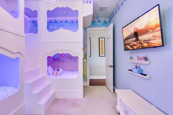Custom Princess twin/twin bunk beds x 2 4 twins