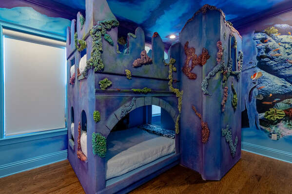 Explore the deep blue sea in this amazing kids bedroom