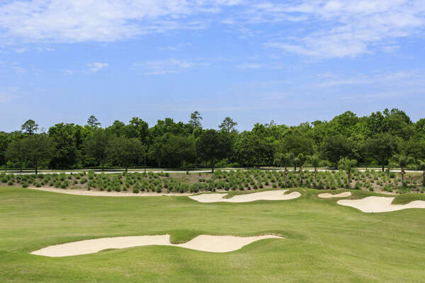 Golf course in your backyard