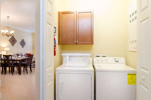 You own private washer and dryer