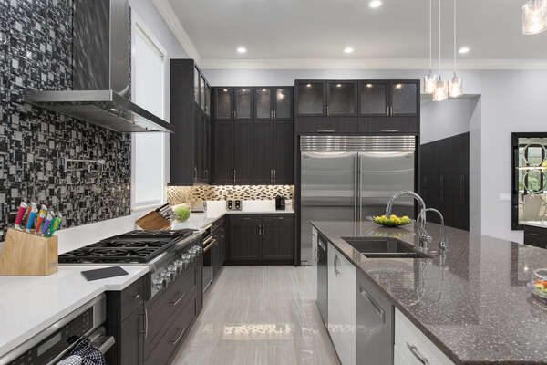 Featuring top of the line stainless steel appliances and beautiful custom designed features no expense has been spared