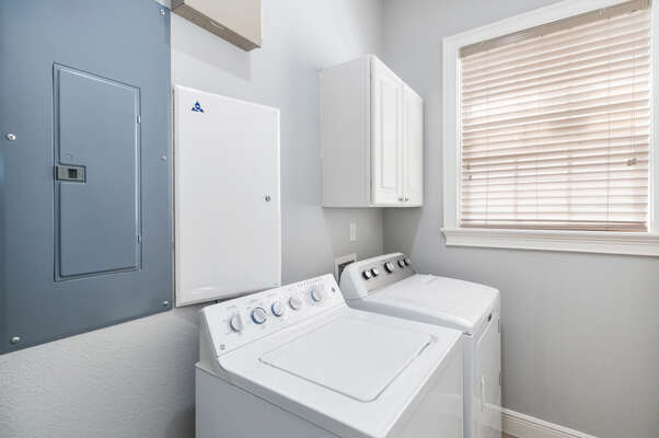 The in-unit washer and dryer