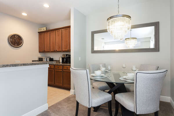 The annex boasts its own kitchen for your extra guests privacy and convenience