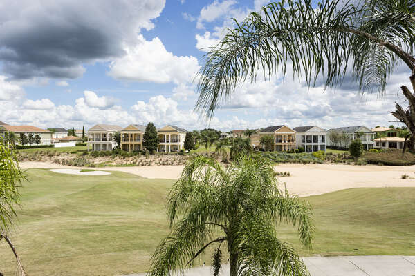 Enjoy the beautiful golf course views from your third story balcony