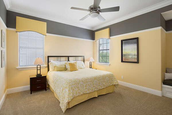 Elegant king bedroom.