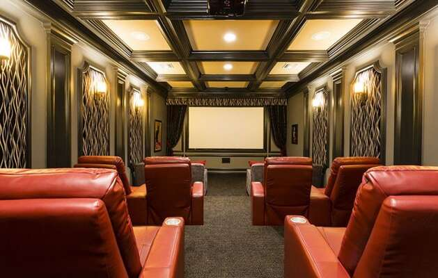 Private theater perfect for a movie night in the comfort of your own home.