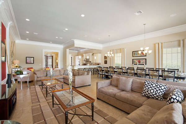 Open living area perfect for family nights in.
