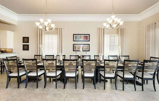 Formal meals for the whole family at this extended dining table.
