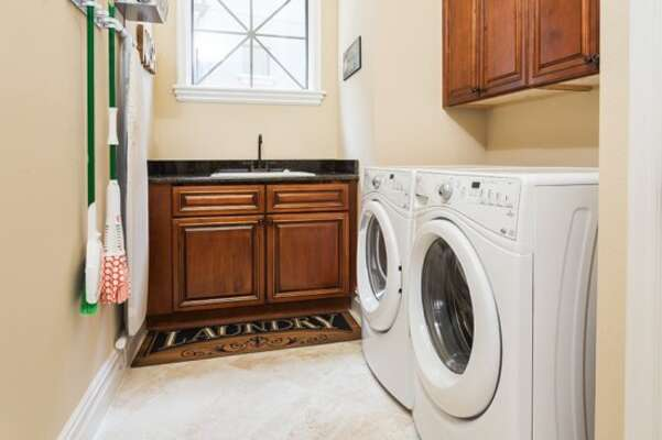 Enjoy the convenience of your own laundry room