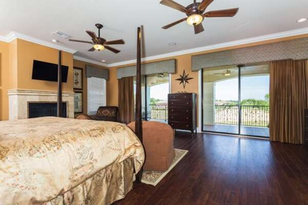 Enjoy direct patio balcony access from your master suite