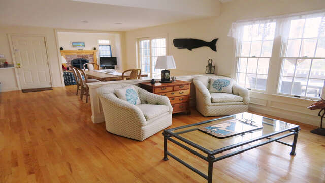 2nd sitting area -open to dining and kitchen- 151 Sky Way Chatham Cape Cod New England Vacation Rentals