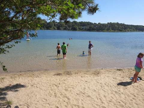 White Pond is fresh water and the public area offers a small- white sandy beach area for all to enjoy.- Chatham Cape Cod New England Vacation Rentals