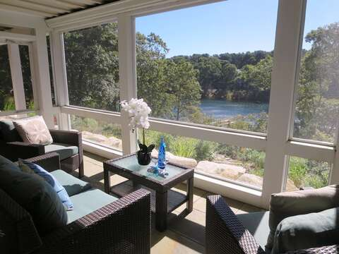 Enjoy your favorite libation and take in the view! -151 Sky Way Chatham Cape Cod New England Vacation Rentals