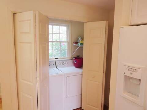 Laundry on 1st floor off kitchen area - 151 Sky Way Chatham Cape Cod New England Vacation Rentals