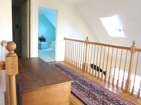 Upstairs landing with full bath shared by 2nd and 3rd bedroom-- 151 Sky Way Chatham Cape Cod New England Vacation Rentals