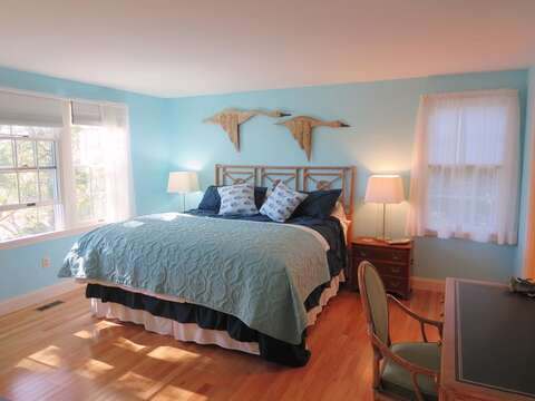 1st floor master bedroom with king bed - 151 Sky Way Chatham Cape Cod New England Vacation Rentals