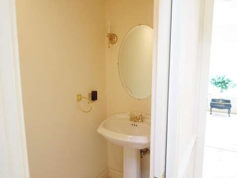 half bath off hall on 1st floor - 151 Sky Way Chatham Cape Cod New England Vacation Rentals