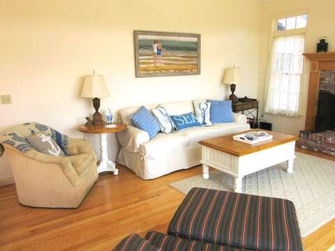 living room with lots of comfortable furnishings - 151 Sky Way Chatham Cape Cod New England Vacation Rentals