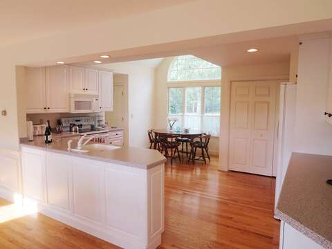 over view of fully equipped kitchen - 151 Sky Way Chatham Cape Cod New England Vacation Rentals